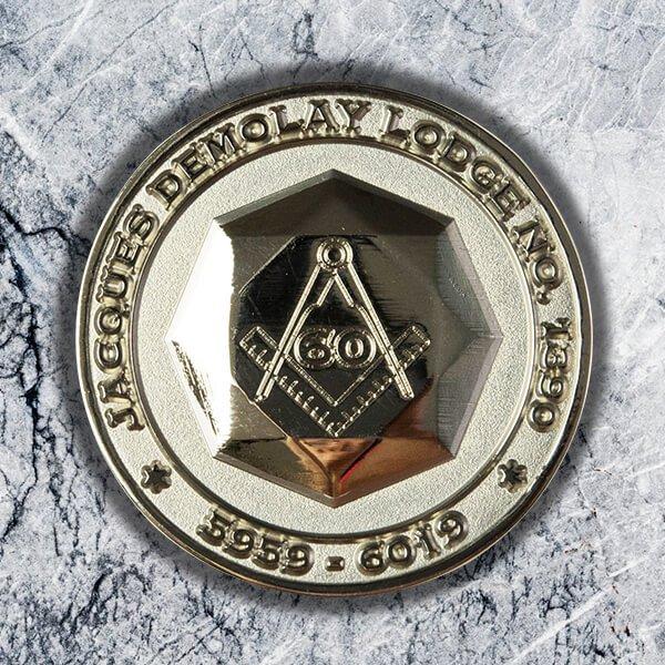 Masonic Jacques Demolay Lodge Challenge Coin