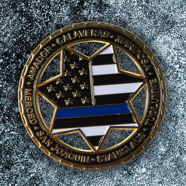 Police Cut Out Challenge Coin