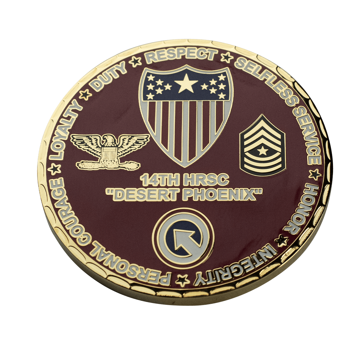 Challenge Coin Spur Edge