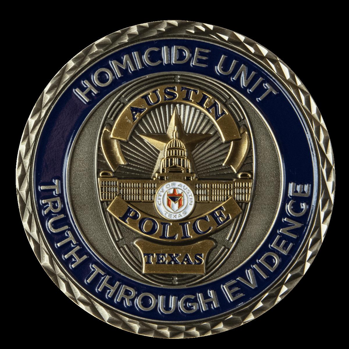 Austin Texas Homicide Challenge Coin