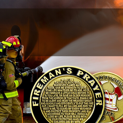 Coins for the Brave a Background of the Prestigious Firefighter Challenge Coin