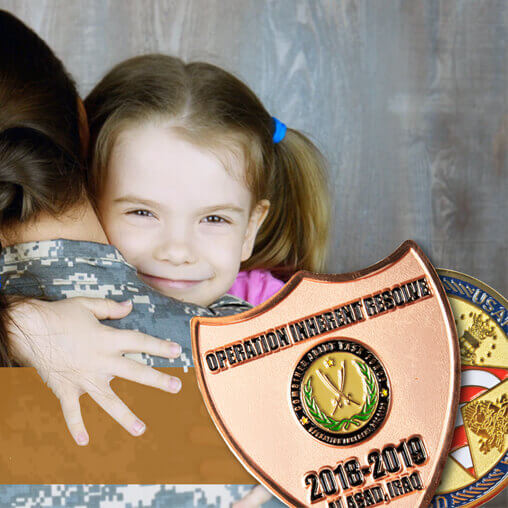 Custom Challenge Coins Proudly Supports Month of the Military Child