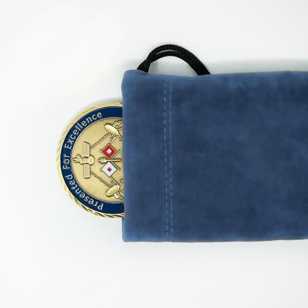 Challenge Coin Velvet Bag