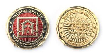 One Side Color Example Challenge Coin