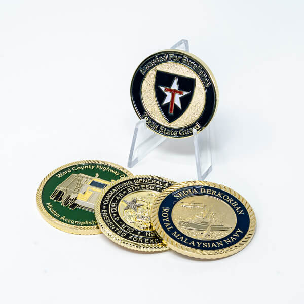 Polished Brass Coin Plating