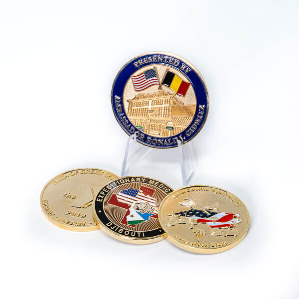 Polished Gold Coin Plating