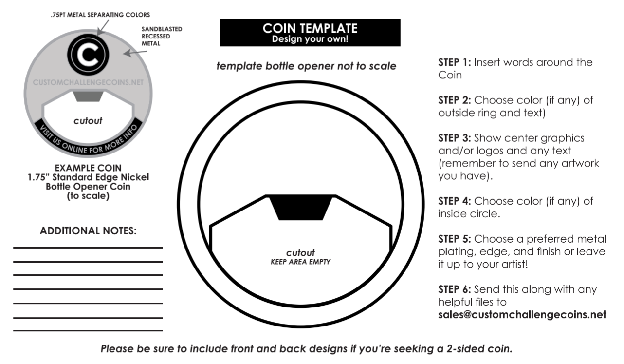 Challenge Coin Design Template