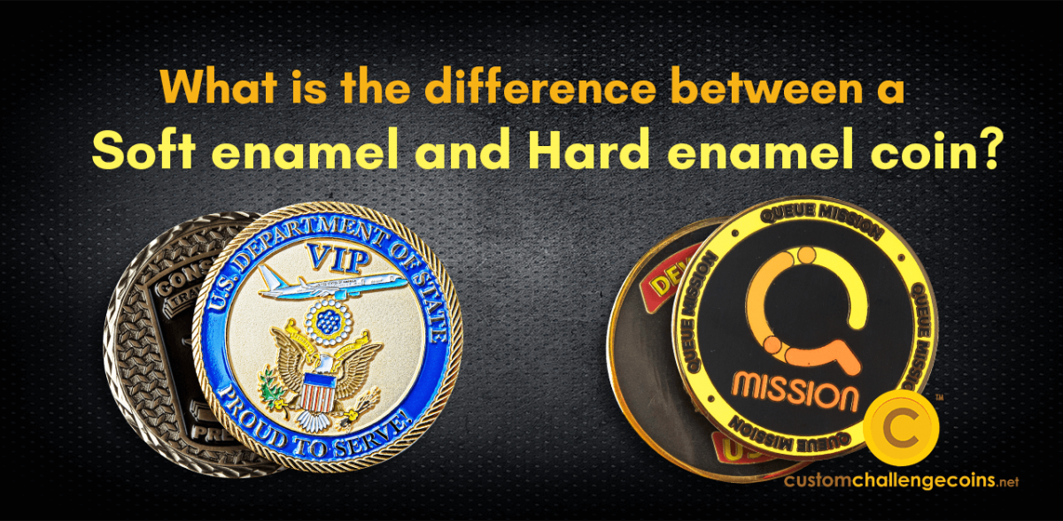 what is the difference between a soft enamel and hard enamel coin