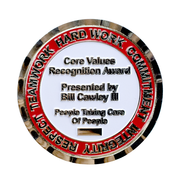 Challenge Coin Bevel Edge